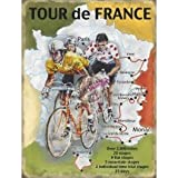 Metal Sign - Tour de France map Plaque métal - Metal Sign - XXX15772 - S (15 x 20 cm)