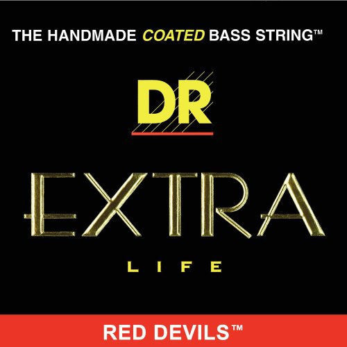 DR HANDMADE COATED BASS STRINGS - Extra Life - Red Devils .045-.125 Medium