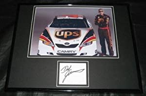Signed Dale Jarrett Photograph - UPS CAR FRAMED 11x14 JSA - Autographed NASCAR Photos by Sports Memorabilia