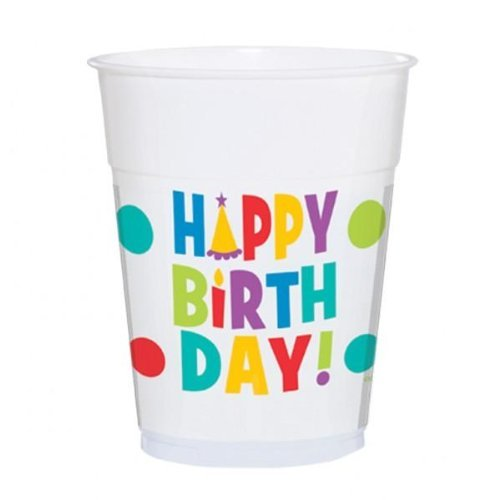 Bday Dots & Stripes Cup