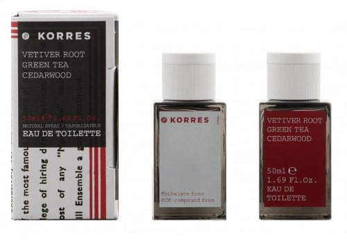 Korres Men Vetiver Root, Green Tea And Cedarwood Eau De Toilette Fragrance 50Ml