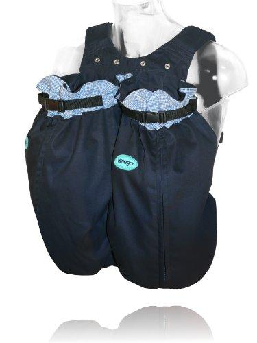 """Weego Babytragesack Modell #325 """"TWIN Blue Pepita"""", speziell für Zwillinge ab einem Gewicht von 1600g"""