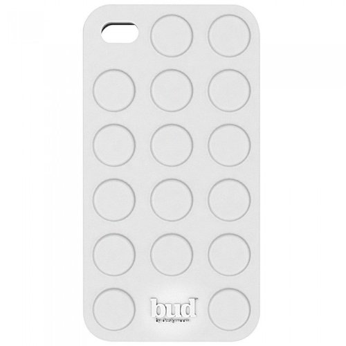 PT Bud Case for Iphone 4/ 4s Bump Silicone (White)