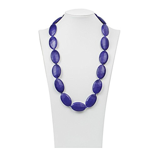 Ibepro® Breastfeeding Necklace - Teething Necklace for Mom to Wear and Bracelet/Bangle are Smart Baby Shower Gifts - Teether Beads Provide Soothing Pain Relief (Blue Violet) (Metal Doll Hair Brush compare prices)