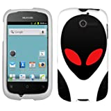 Huawei Ascend Y UFO Alien Ghost On White Cover Case
