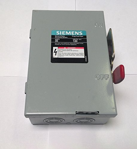 83342 Siemens Metal Fused Disconnect Switch - 30A 120VAC 1PH