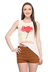 Wearsense Women's Top (White, Medium)