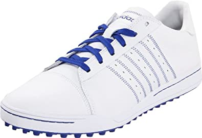 adidas Men's Adicross Golf Shoe,White/Royal/Royal,7 M US