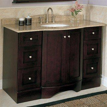 Bath vanities ultraline 48 inch bathroom vanity by strasser