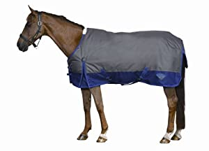 Saxon 1200D Standard Neck Medium Turnout Blanket - 75 - Grey/Purple