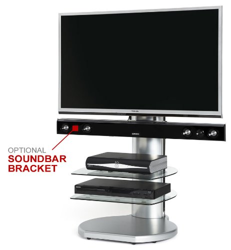 Off The Wall Origin II S4 TV Stand - All Silver