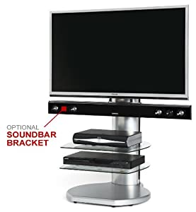 The Best  Origin II TV Stand for TVs 43″-60″ Finish:  / Clear glass