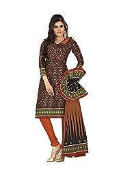Khushbu Textile Women's Cotton Unstitched Salwar Suit (9001_Multicolor_Free Size)