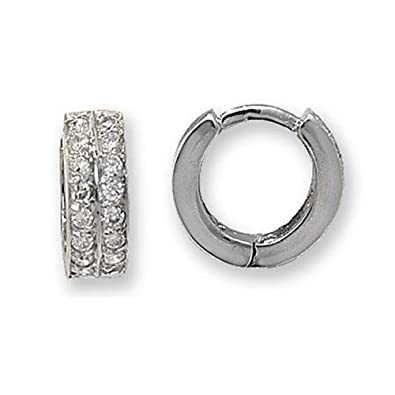 9ct Cubic Zirconia Set White Gold Earrings