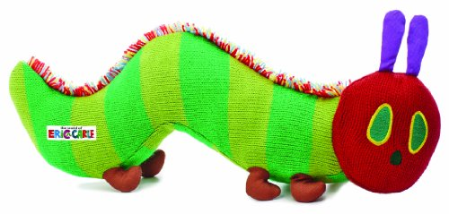 World of Eric Carle, The Very Hungry Caterpillar Knit Bean Bag Toy by Kids Preferred - 1