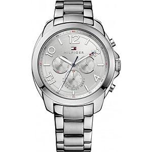 Tommy Hilfiger 1781391 - Reloj de cuarzo para mujer, con correa de acero inoxidable, color plateado