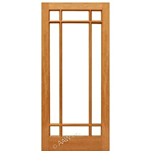 Interior door mahogany 9 marginal aaw doors inc for 18x80 door