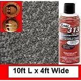 1 Glue+ 2 Terminals+ 10ft *4ft Polymat Charcoal Speaker Box Carpet Dj Speaker Enclosure Carpet
