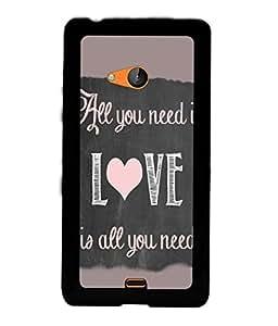 PRINTVISA Quotes Love Case Cover for Nokia Lumia 540::Microsoft Lumia 540