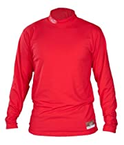 Louisville Slugger Adult Slugger Cold Weather Thermal-Tech Shirt, Red, Small