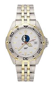 Dallas Mavericks Mens All Star Watch Stainless Steel Bracelet by Logo Art