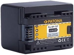 """Bundlestar * Qualitätsakku für Canon BP-727 (echte 2400mAh) mit Infochip - Intelligentes Akkusystem - 100% kompatibel """"neueste Generation"""" für -- Canon LEGRIA HF M52 M56 -- M506 -- R36 R37 R38 R46 R48 R66 R68 -- R306 R406 R506 R606 -- NEUHEIT - Kann mit original Ladegerät geladen werden !"""