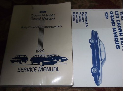 1992 Ford Crown Victoria Service Shop Repair Manual Set (Service Manual, And The Electrical & Vacuum Troubleshooting Manual.)