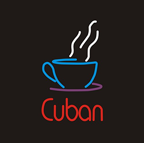 "New Cuban Coffee Customized Real Glass Neon Light Sign Home Beer Bar Pub Recreation Room Game Room Windows Garage Wall Sign 17w""x 14""h"