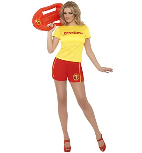 Ladies Baywatch Beach Costume - T-shirt and Shorts
