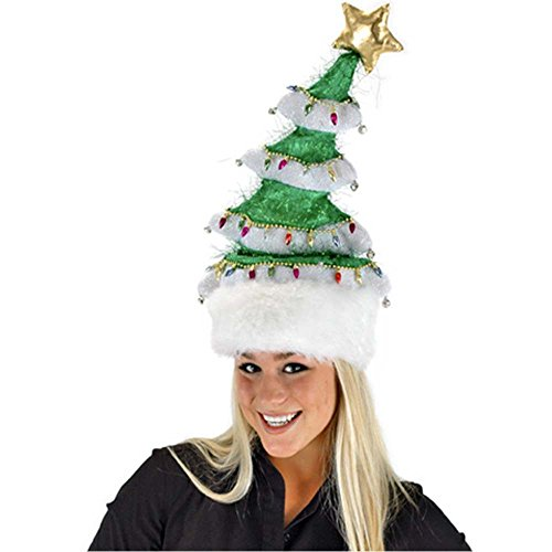 Springy White Christmas Tree Hat