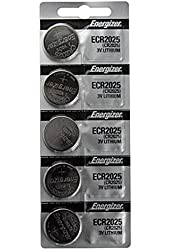 CR2025 Energizer Lithium Batteries (1 pack of 5)