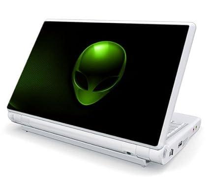 """Alien Head Laptop Universal Size Decal Skin, 15.6"""" & 17"""""""
