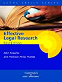 Knowles and Thomas: Effective Legal Research (0421922702) by Thomas, P.A.