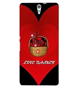 ColourCraft Love Basket Design Back Case Cover for SONY XPERIA C5 E5553 / E5506