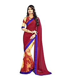 Morpankh enterprise Red Georgette Saree ( Ridhhi 101 red )