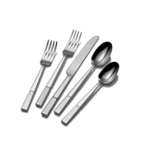 Amazon.com: Mikasa Duo 20-Piece Flatware Set: Kitchen & Dining
