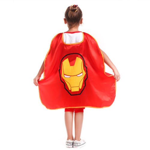 Super Hero Mask Cape Kids Children Baby Boy Girl Cosplay Fancy Dress Costume Toy Iron Man Cape (Homemade Mexican Costume)
