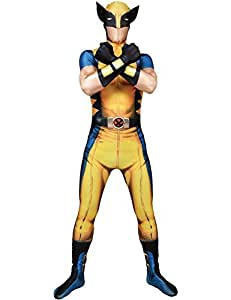 """Classic Superhero Morphsuit Costumes Spiderman Iron Man Deapool Captain America Wolverine All Sizes Small To XXL (Small 4ft6""""- 5ft (138cm - 150cm), Classic Wolverine Costume) by fancy dress warehouse [並行輸入品]"""