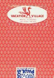 Vacation Village Casino Las Vegas Red Playing Cards