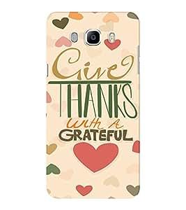 EPICCASE Hearty thanks Mobile Back Case Cover For Samsung J5 2016 (Designer Case)
