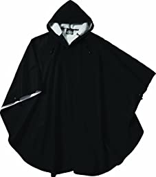 Charles River Apparel 8709 Youth Pacific Poncho,Black,One Size,Black