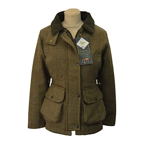 Ladies Derby Tweed Shooting Hunting Country Jacket LIGHT SAGE 8-24