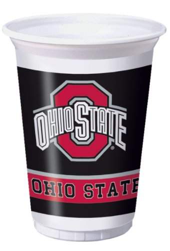 Creative Converting Ohio State Buckeyes Printed Plastic 20 oz. Cups (8 Count)