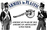 American War 1812 American Artillery Crew (5) w/6-Pdr Cannon (Blue Figs) 1/32 Armies in Plastic