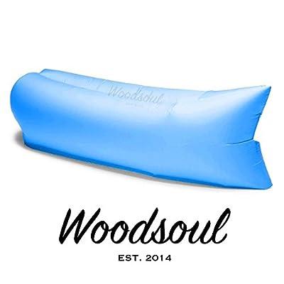 Woodsoul® INSTAFLATE Hangout Sitzkissen Liegematte Schlafsack Luftkissen - Farbe: Blau