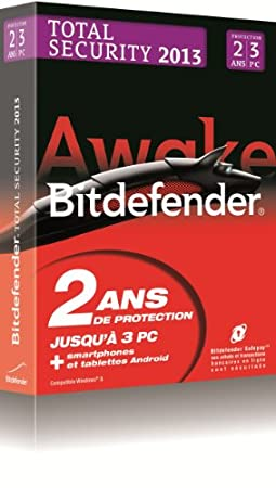 Bitdefender Total Security 2013 (3 postes, 2 ans)