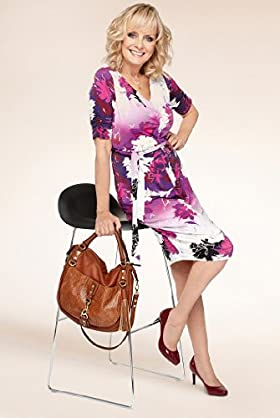 Twiggy for M & S Woman Ombre Floral Drape Dress