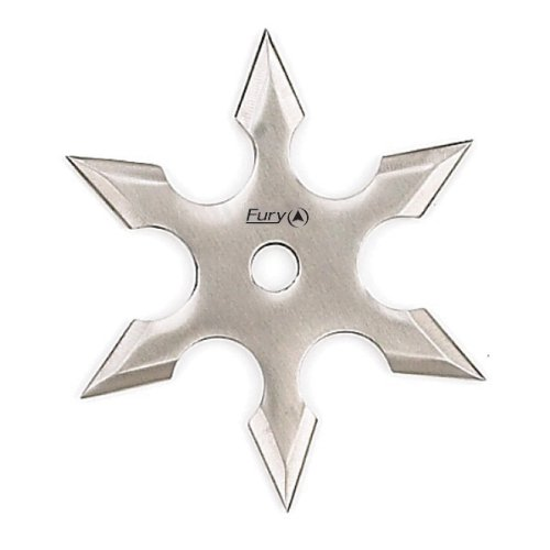 Fury Martial Arts Hex Point Shuriken Throwing Star (4.25-Inch-Diameter)