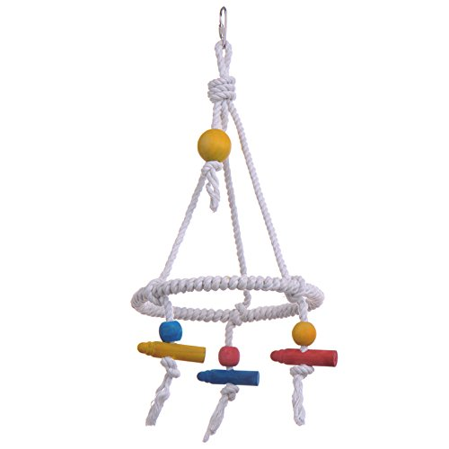 Yunt-Pet-Bird-Parrot-Parakeet-Budgie-Cockatiel-Cage-Hammock-Swing-Toy-Cotton-Rope-Tri-Toy-Hanging-Toy