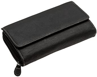 MUNDI Big Fat Flap Wallet,  Black,